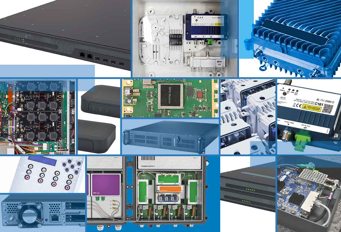 portfolio of design and manufacturing  projects for the telco sector